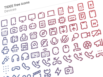 Free Tidee Devices icons call phone laptop computer smartphone devices freebie free vector icojam icons tidee