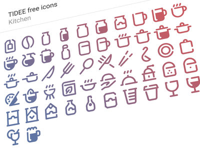 Tidee kitchen icons free stroke outline juicer glass bottles cup coffee jar jam kitchen icons free icojam tidee
