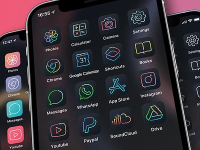 Aesthetic icons for iOS 14 icojam theme sketch iphone hand draw handdrawn ios14 aesthetic