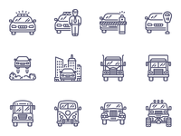 Unigrid transport icons