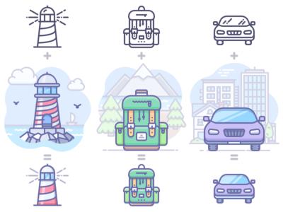 Unigrid + Scenarium = Unigrid Phantom icons
