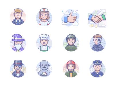 Scenarium people icons