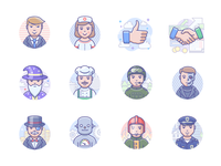 Scenarium people icons