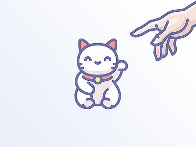 Unigrid new icons mimimi cute cat creation god hand manekineko maneki icojam icons unigrid