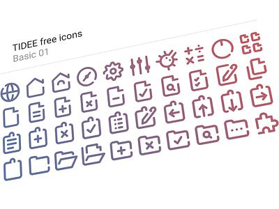 40 Free Tidee Basic icons vol.01 24px free freebie vector icojam icons