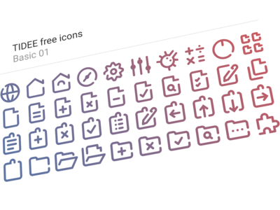 40 Free Tidee Basic icons vol.01