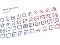 40 Free Tidee Basic icons vol.02