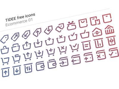 40 Free Tidee Ecommerce icons vol.01 icon free freebie vector icojam icons