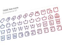 40 Free Tidee Ecommerce icons vol.01