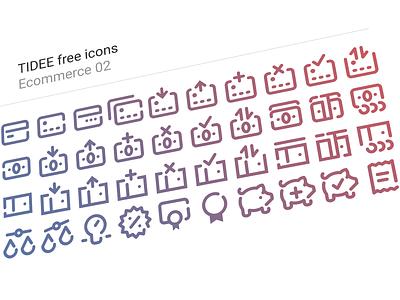 40 Free Tidee Ecommerce icons vol.02 finance free freebie vector icojam icons money ecommerce card credit