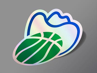 Dallas Basketball Sticker blue green ten-gallon hat texas basketball dallas