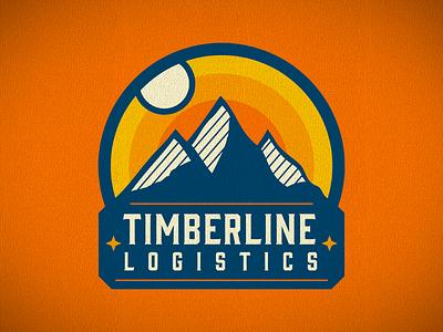 Timberline Logistics sunset sunrise silhouette mountains logotype logistics colorado timberline timber
