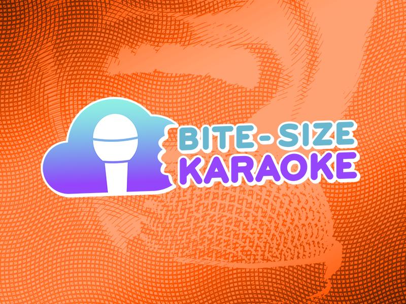 Bite-Size Karaoke microphone size cloud bite sing music karaoke