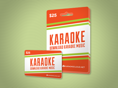 Karaoke Download Card