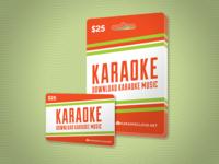 Karaoke Download Card