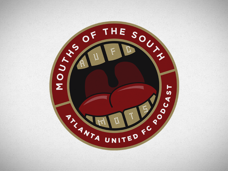 Mouths Of The South logotype mouth teeth tongue gold south mouths united soccer atlanta