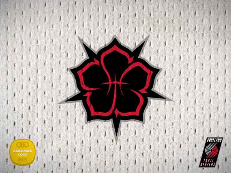 Portland Trailblazers Alternate Logo Concept basketball rose logo alternate trailblazers portland nba