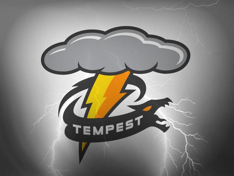 Tempest Esports Logotype lightning dragon esports storm tempest