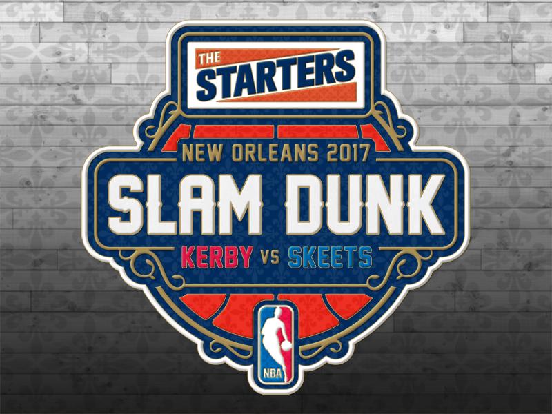The Starters Slam Dunk 2017 Logotype the starters slam dunk nbatv nba