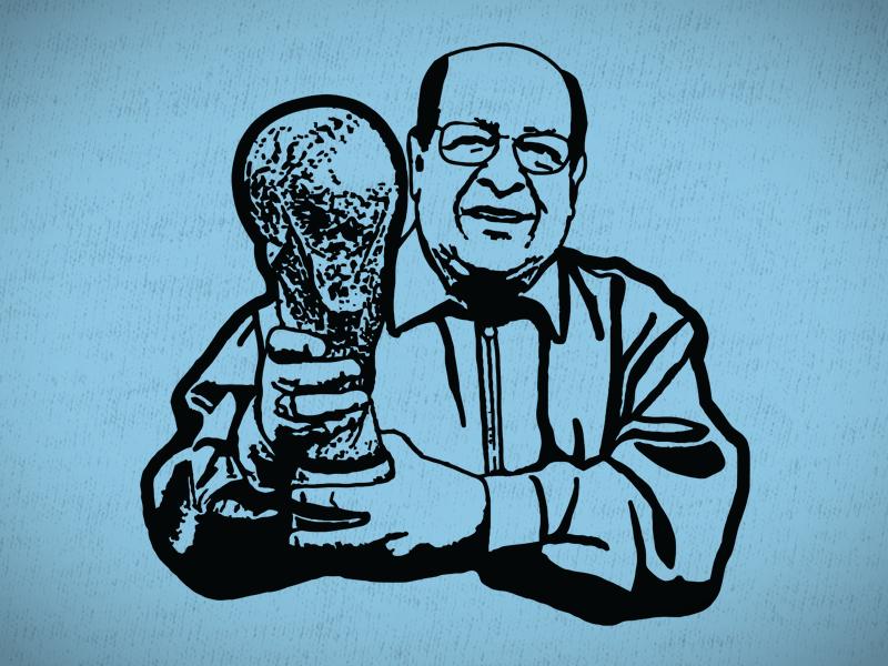 Mr. Zapata futbol soccer t-shirt trophy world cup