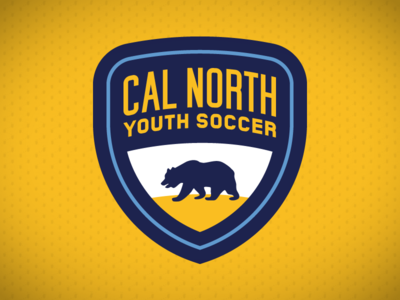 Cal North Youth Soccer sign crest bear california youth soccer