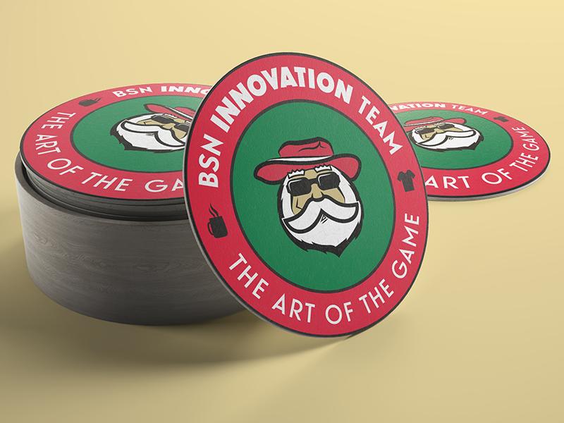 BSN Innovation Team Coaster innovation coaster santa claus bsn sports