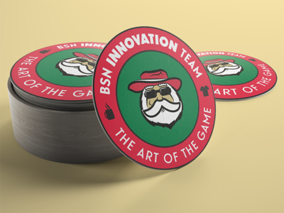BSN Innovation Team Coaster innovation coaster santa claus bsn sports
