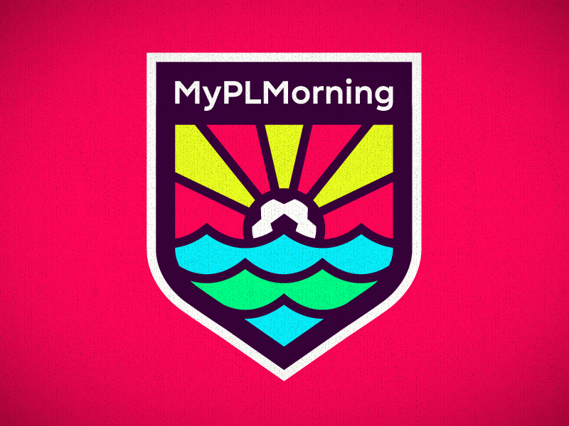 My PL Morning badge logotype crest usa football premier league bpl epl soccer