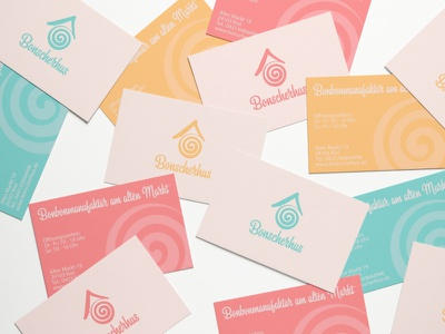 Business cards for Candy shop palette shop candy logotype logo design businesscard