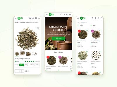 TeaLine - Online store / E-commerce web design tea store tea e-commerce