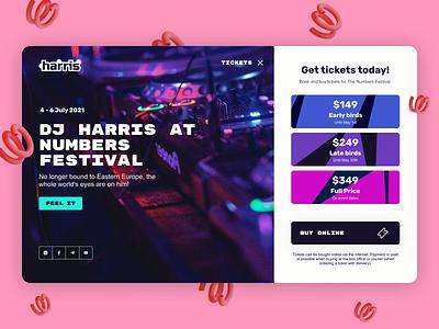 Landing Page for Music Festival music figma web design branding