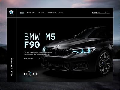 BMW Product Page Design Concept figma black bmw branding