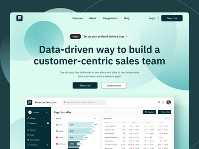 Marketing page for SaaS analytics tool. web design design research digital product saas dashboard figma ux ui