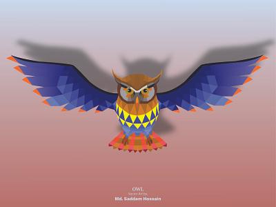 OWL VECTOR ART web vector illustration design