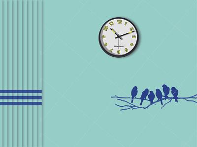 Regular Clock Elegant Wall branding web vector illustration design