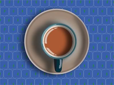 Tea Cup Vector Art art logo graphic design illustrator flat branding web vector illustration design