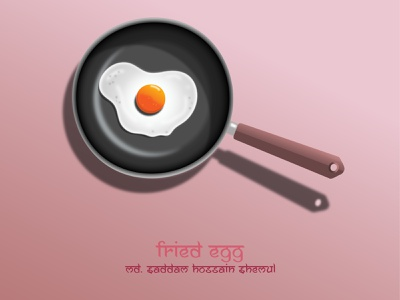 Fried Egg realistic graphic design web vector illustration design