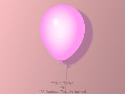 Balloon realistic 3d graphic design illustrator web vector illustration design