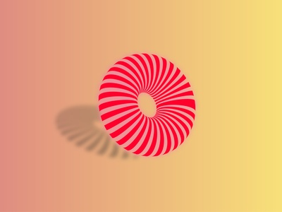 3D Donut vector logo illustrator illustration graphic design