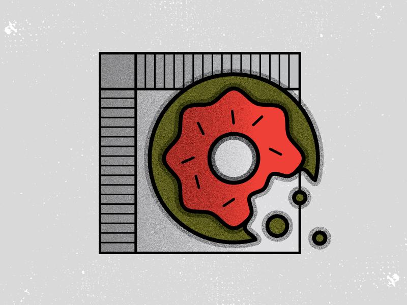 D is for donut. illustration food donut