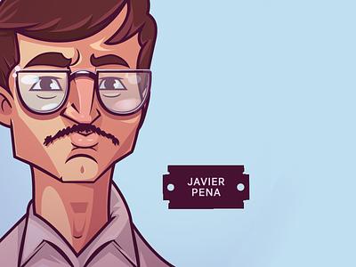Narcos. Pena artist design artwork vector illustration vector mascot design illustraion digitalart characterdesign character