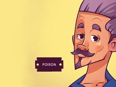 Narcos. Poison artwork vector illustration artist design vector mascot design illustraion digitalart characterdesign character