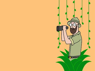 On Safari avatar character illustration characters vector