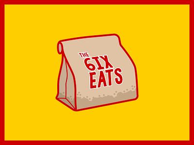 @the.six.eats logo illustrator vector logo design logo