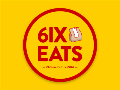 6IX EATS UPDATE branding design vector logo