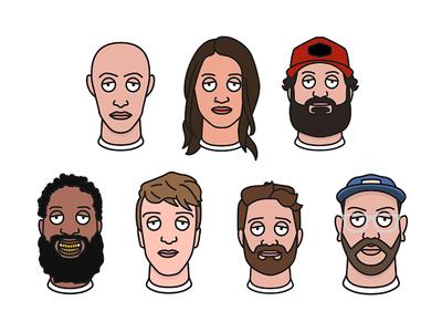 Favourites favourites faces heads vector illustrators designers