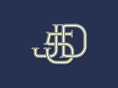 Monogram initials vector monogram