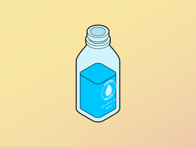 Isometric Water Jug vector h2o hydration water isometric