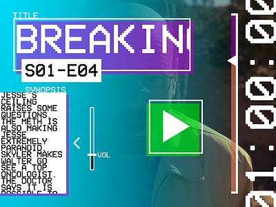 Hack Day - Brutalist Player brutalistm app design video player brutalist hack day