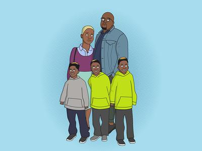 Family Portrait illustrator family portrait illustration vector
